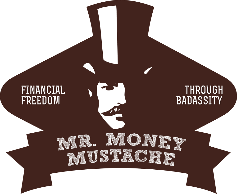Graphic of a man in tophat with moustache - Mr. Money Moustache